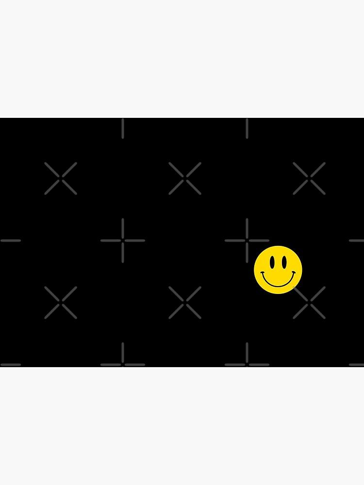 Small | Happy Face | Black | Smiley |  by HappyFaceCo