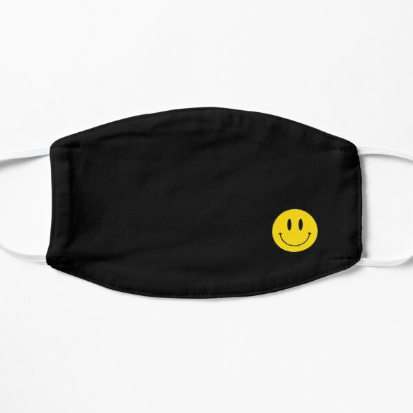 Small | Happy Face | Black | Smiley |  Mask