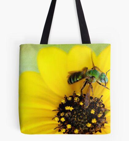 Green Bee Tote Bag