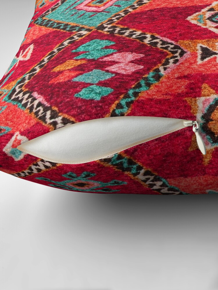Alternate view of Traditional Colored Anthropologie Bohemian Moroccan ARTWORK Throw Pillow