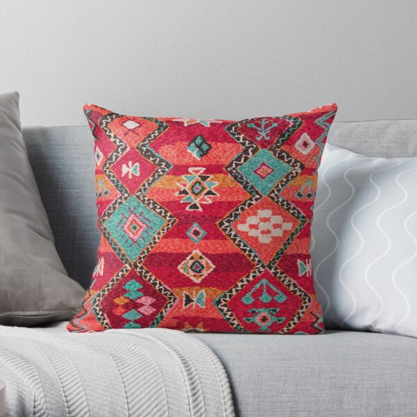 Traditional Colored Anthropologie Bohemian Moroccan ARTWORK Throw Pillow