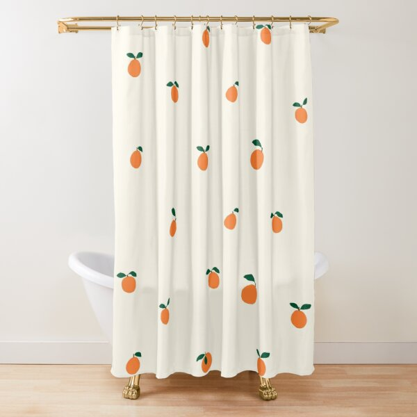 little oranges pattern Shower Curtain