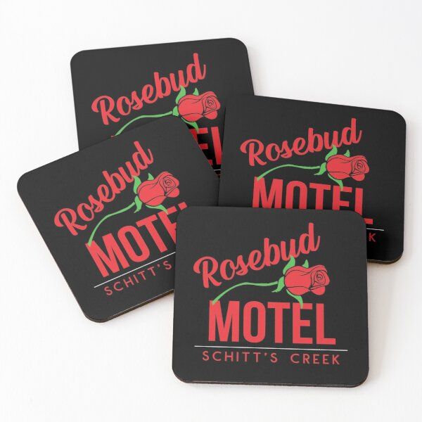 Rosebud Motel Coasters (Set of 4)