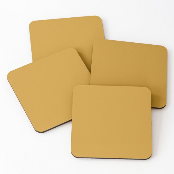 Dark Mustard Yellow Solid Coasters (Set of 4)