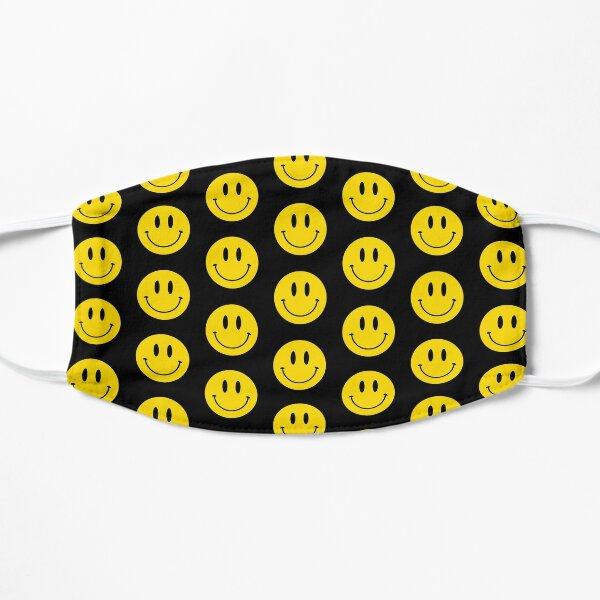 Pattern | Happy Face | Black | Smiley |  Mask