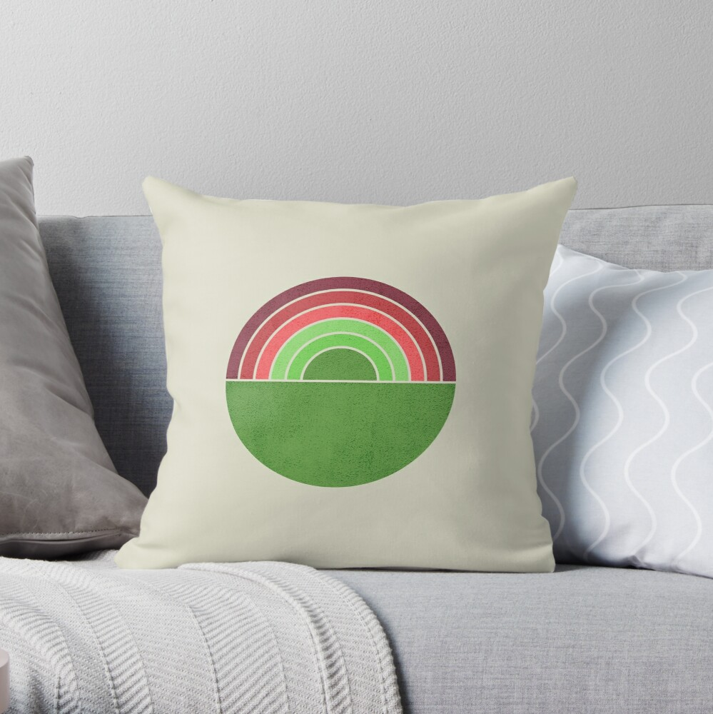 Spring Rainbow Throw Pillow