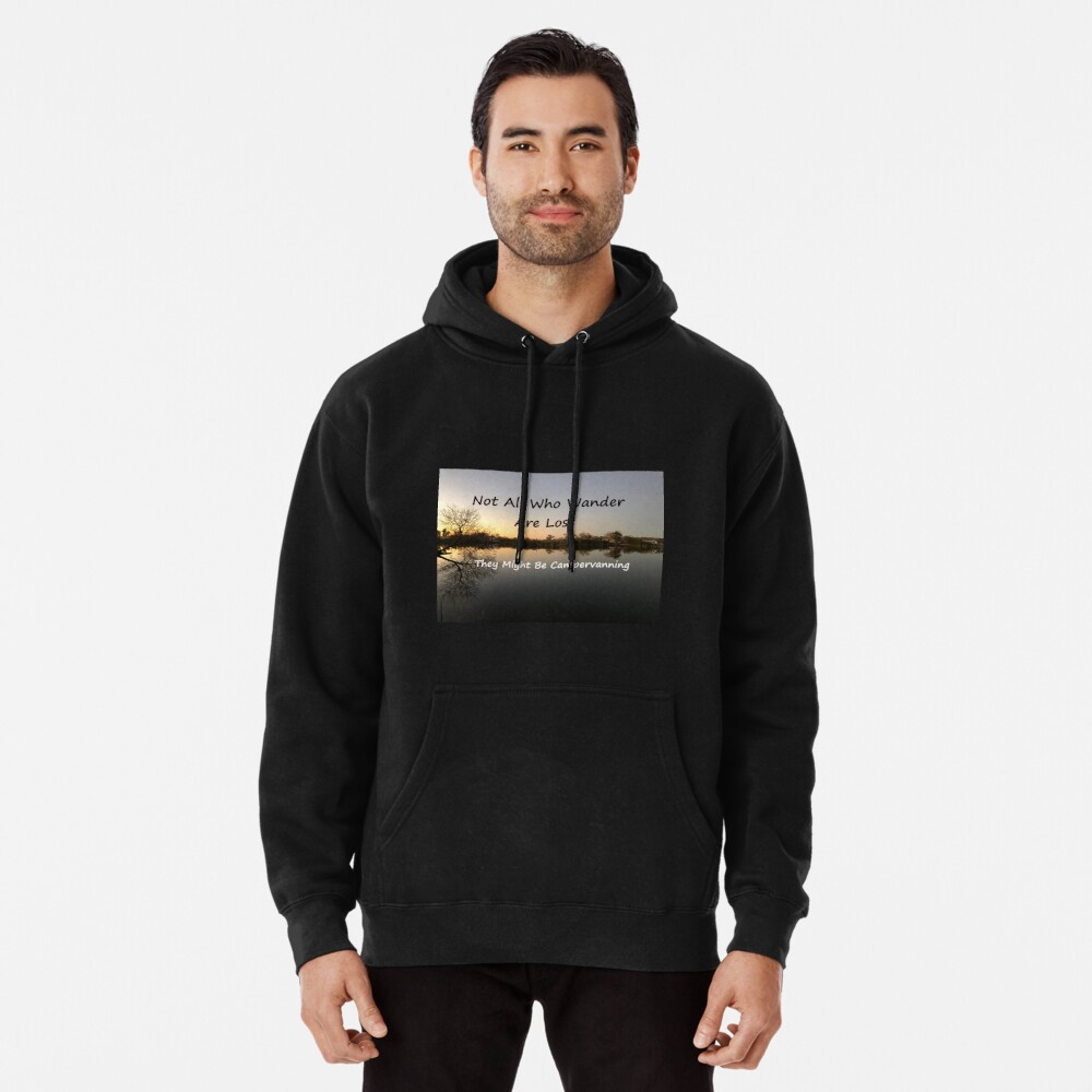 Zip Up Hoodie Not All Who Wander Hooded Sweatshirt for Men
