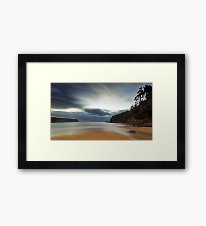 Sand of Wattamolla Framed Print