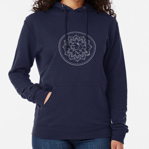 Ours Mandala (contours blancs) Sweat à capuche léger