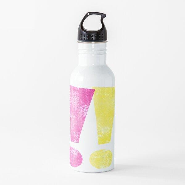 Angustiado CMYK Whee! Gráfico de exclamación Botella de agua