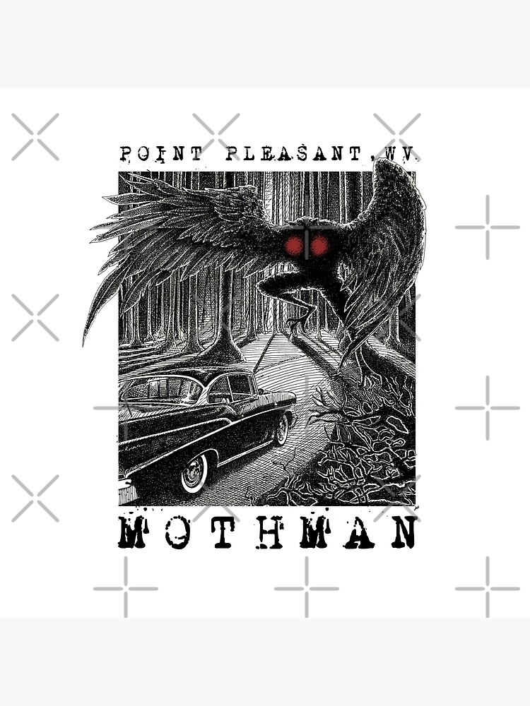 Mothman Encounter - Point Pleasant, WV Cryptid Gift by NatIntrovertSoc