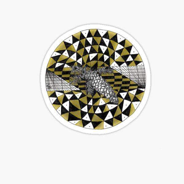 Shinrin-yoku Art - Cones Collection II Sticker