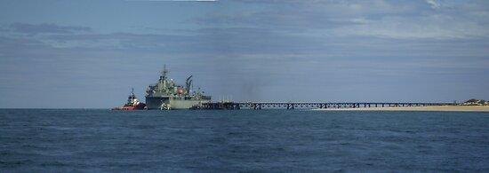 HMAS Sirius at Exmouth Navy Pier, Western Australia by BigAndRed