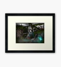 Downed Helicopter Framed Print