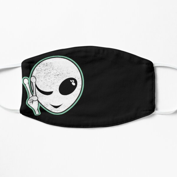 Alien Peace Shirt Green UFO Lover and Believer Mask