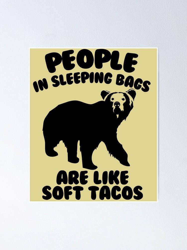 Alternate view of Camping Humor - Bear Food Poster
