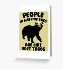 Camping Humor - Bear Food Greeting Card