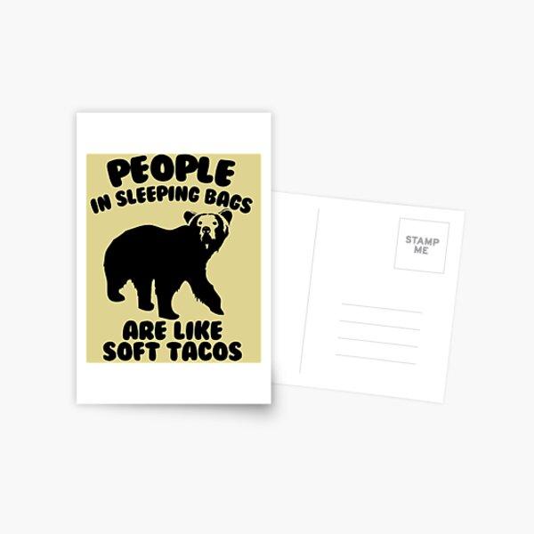 Camping Humor - Bear Food Postcard