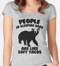 Camping Humor - Bear Food Women's Fitted Scoop T-Shirt