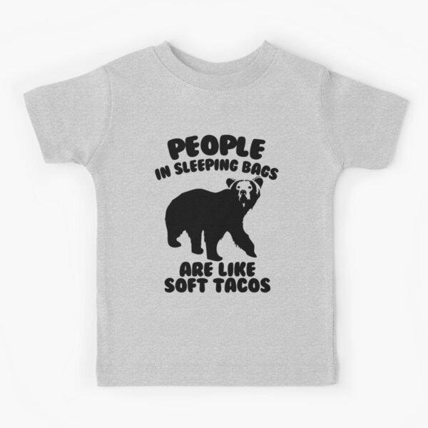 Camping Humor - Bear Food Kids T-Shirt
