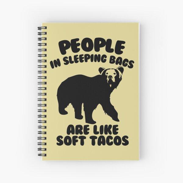 Camping Humor - Bear Food Spiral Notebook