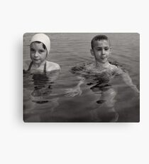 Kids Swimming Canvas Print