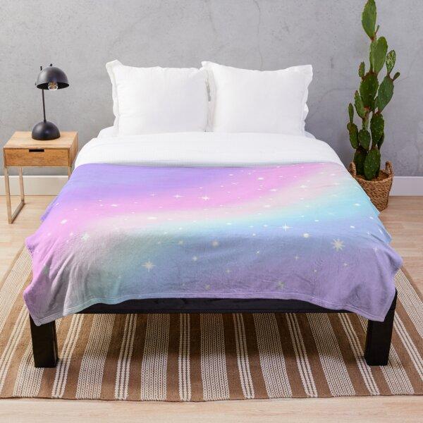 Kawaii Rainbow Magic Throw Blanket