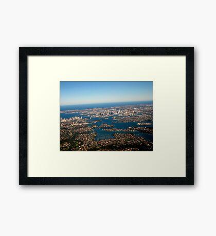 HIGH ABOVE SYDNEY Framed Print