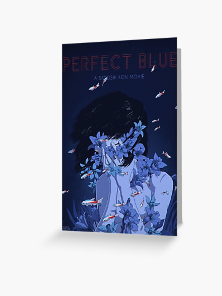 Perfect Blue Poster Greeting Card By Blurclothinguk Redbubble