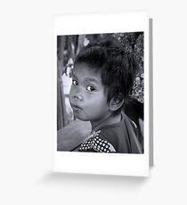Khmer Child 2 Greeting Card