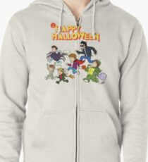 A Monster Squad Halloween Zipped Hoodie