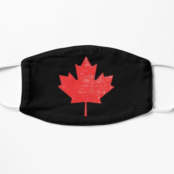 Distressed Canadian Maple Leaf  Flat Mask