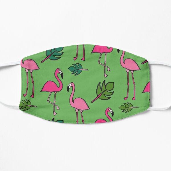 Flamingo print- Green Mask