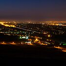 Pretoria at night #1 by Rudi Venter
