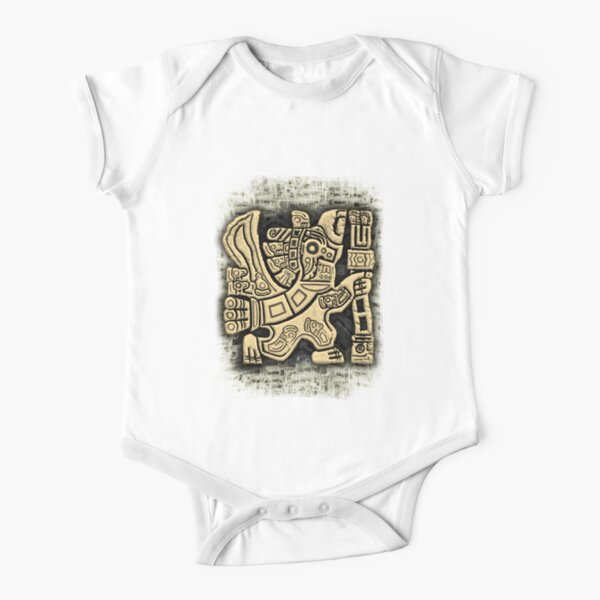 Aztec Eagle Warrior Short Sleeve Baby One-Piece