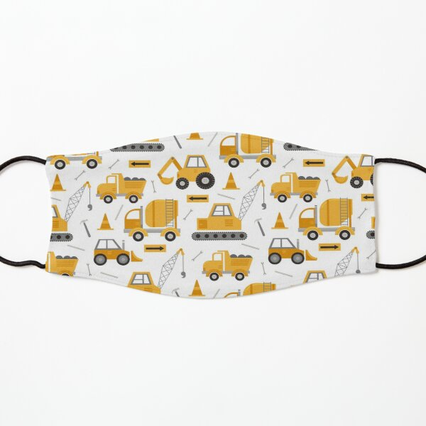Construction Trucks  Kids Mask