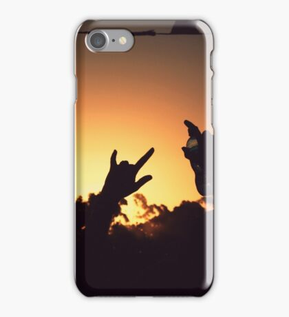 Lift our hands skywards iPhone Case/Skin