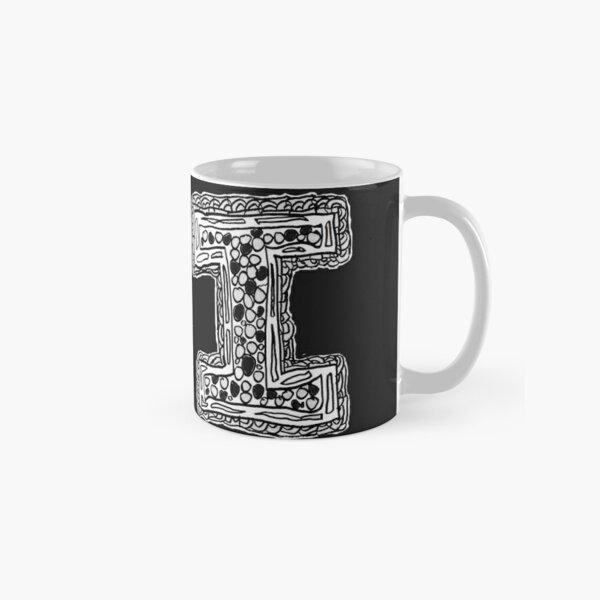 Upper case black and white alphabet  Letter I Classic Mug