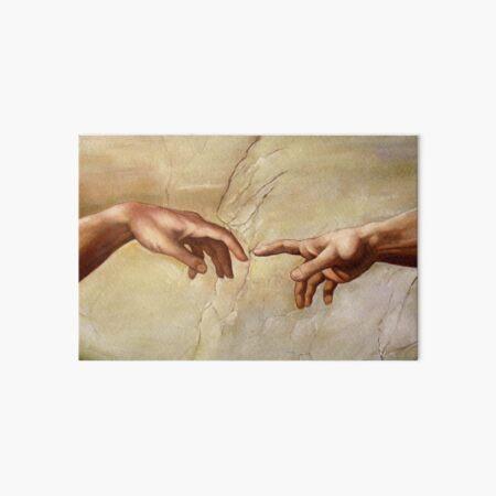 "Michelangelo ""Creation of Adam"" (detail) 1508–1512 Art Board Print"