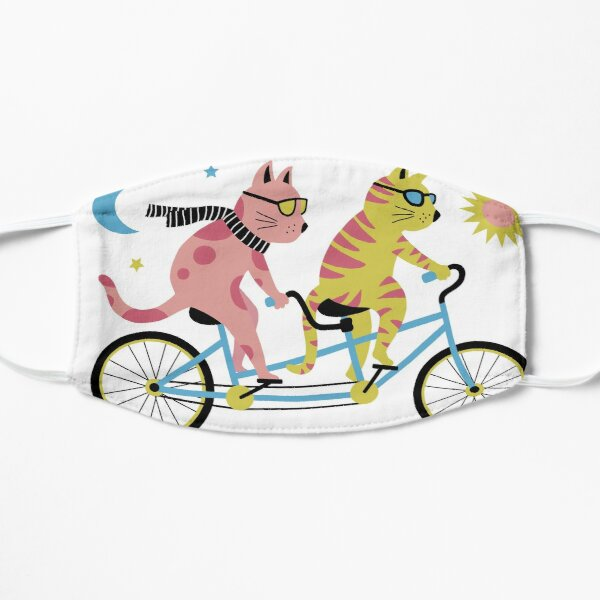 Tandem Bike Cats  Flat Mask