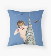 Queen Kong Throw Pillow