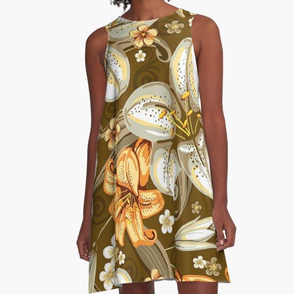 leo • theo | Trumpet flowers A-Line Dress