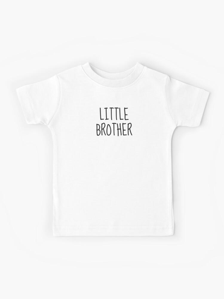 Enfants Petit frère T-SHIRT personnalisé fils le Nom ici anniversaire drôle TEE