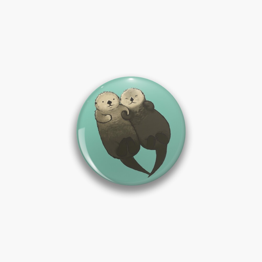 Significant Otters - Otters Holding Hands Pin