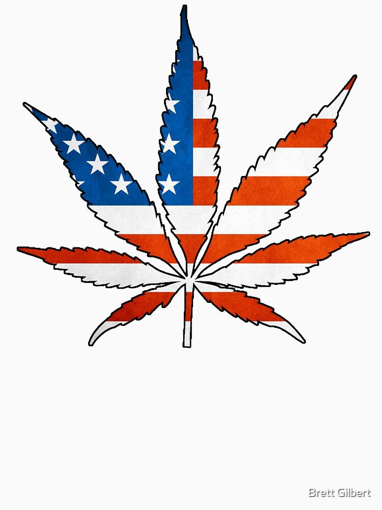 Marijuana Leaf American Flag by bgilbert
