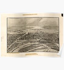 Panoramic Maps View of the city of Providence as seen from the dome of the new State House Poster