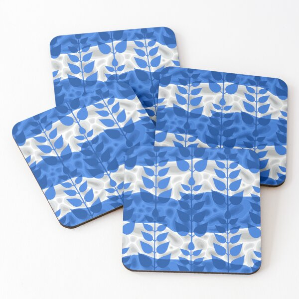 Abstract vector design inspired by Stockholm metro stations, T-Centralen Coasters (Set of 4)