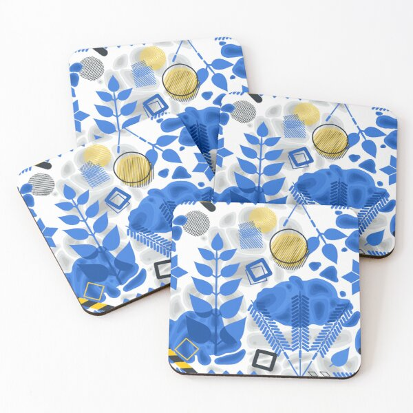 Pattern inspired by Stockholm metro stations, T-centralen Coasters (Set of 4)