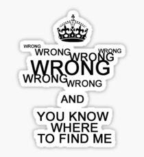 Wrong!(2) Sticker