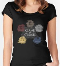 Game of Clones Metal Gear Women's Fitted Scoop T-Shirt